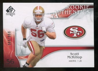 2009 Upper Deck SP Authentic #290 Scott McKillop RC /999