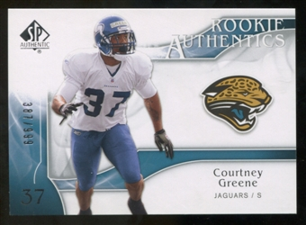 2009 Upper Deck SP Authentic #292 Courtney Greene /999