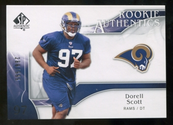 2009 Upper Deck SP Authentic #294 Darell Scott RC /999