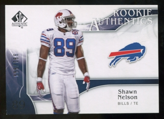 2009 Upper Deck SP Authentic #295 Shawn Nelson RC /999