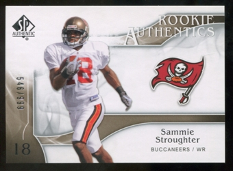 2009 Upper Deck SP Authentic #296 Sammie Stroughter RC /999