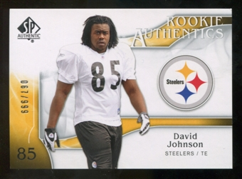 2009 Upper Deck SP Authentic #299 David Johnson RC /999