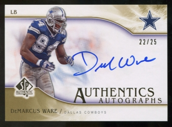 2009 Upper Deck SP Authentic Autographs Gold #SPWA DeMarcus Ware Autograph /25