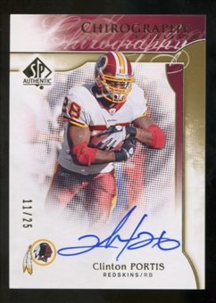 2009 Upper Deck SP Authentic Chirography Gold #CHCP Clinton Portis Autograph  25