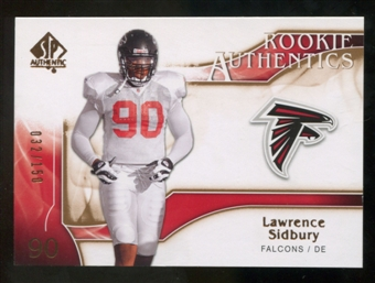 2009 Upper Deck SP Authentic Bronze #205 Lawrence Sidbury /150