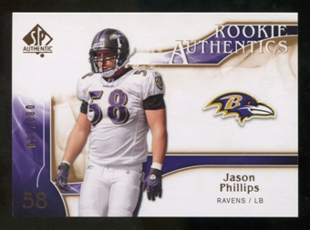 2009 Upper Deck SP Authentic Bronze #209 Jason Phillips /150