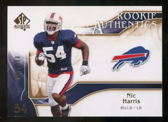 2009 Upper Deck SP Authentic Bronze #212 Nic Harris /150