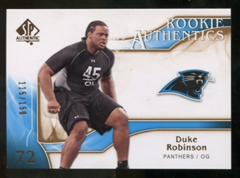 2009 Upper Deck SP Authentic Bronze #215 Duke Robinson /150