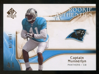 2009 Upper Deck SP Authentic Bronze #216 Captain Munnerlyn /150