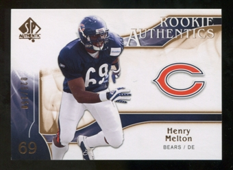 2009 Upper Deck SP Authentic Bronze #217 Henry Melton /150