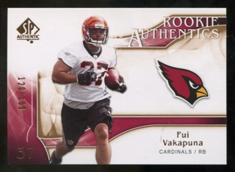 2009 Upper Deck SP Authentic Bronze #224 Fui Vakapuna /150