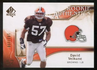 2009 Upper Deck SP Authentic Bronze #227 David Veikune /150