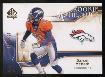 2009 Upper Deck SP Authentic Bronze #235 Darcel McBath /150