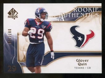 2009 Upper Deck SP Authentic Bronze #245 Glover Quin /150