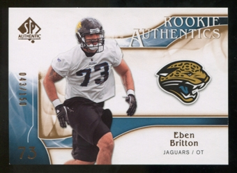 2009 Upper Deck SP Authentic Bronze #252 Eben Britton /150