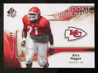 2009 Upper Deck SP Authentic Bronze #256 Alex Magee /150