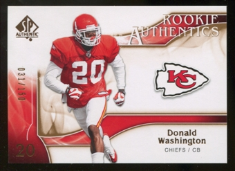2009 Upper Deck SP Authentic Bronze #257 Donald Washington /150