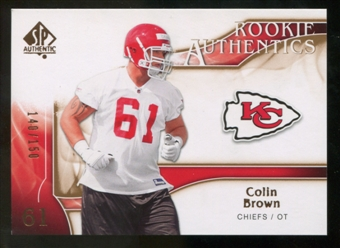 2009 Upper Deck SP Authentic Bronze #258 Colin Brown /150