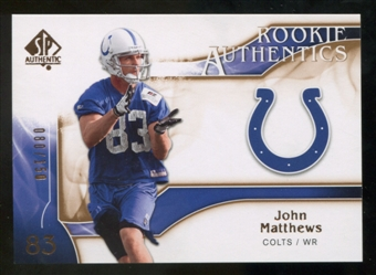 2009 Upper Deck SP Authentic Bronze #261 John Matthews /150