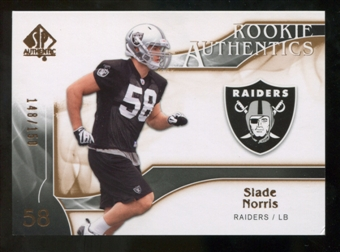 2009 Upper Deck SP Authentic Bronze #278 Slade Norris /150