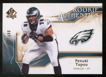 2009 Upper Deck SP Authentic Bronze #279 Fenuki Tupou /150