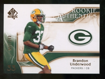 2009 Upper Deck SP Authentic Bronze #284 Brandon Underwood /150