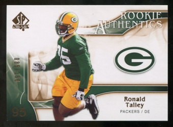 2009 Upper Deck SP Authentic Bronze #289 Ronald Talley /150