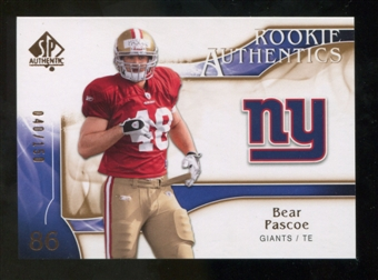 2009 Upper Deck SP Authentic Bronze #291 Bear Pascoe /150