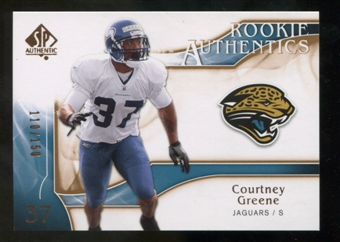 2009 Upper Deck SP Authentic Bronze #292 Courtney Greene /150