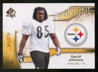 2009 Upper Deck SP Authentic Bronze #299 David Johnson /150