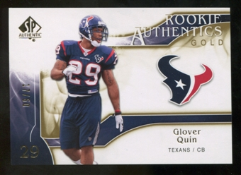 2009 Upper Deck SP Authentic Gold #245 Glover Quin /50