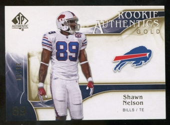 2009 Upper Deck SP Authentic Gold #295 Shawn Nelson /50
