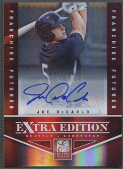 2012 Elite Extra Edition #24 Joe DeCarlo Franchise Futures Signatures Rookie Auto #057/190