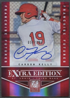 2012 Elite Extra Edition #10 Carson Kelly Franchise Futures Signatures Rookie Auto #050/205