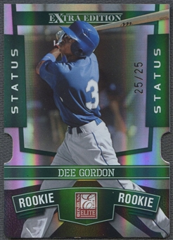 2010 Donruss Elite Extra Edition #134 Dee Gordon Status Emerald Rookie #25/25