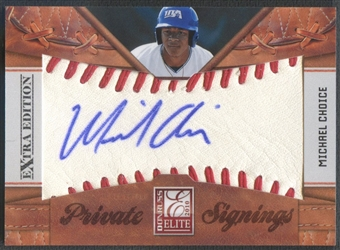 2010 Donruss Elite Extra Edition #3 Michael Choice Private Signings Rookie Auto #64/99