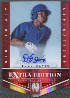 2012 Elite Extra Edition #112 D.J. Davis Signature Aspirations Rookie Auto #093/100