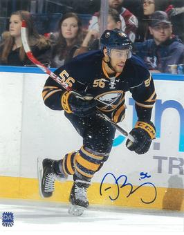 Justin Bailey Autographed Buffalo Sabres 8x10 Blue Jersey Photo