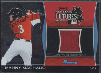 2011 Bowman Draft #MM Manny Machado Future's Game Relics Jersey