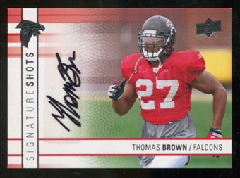 2009 Upper Deck Signature Shots #SSTB Thomas Brown Autograph