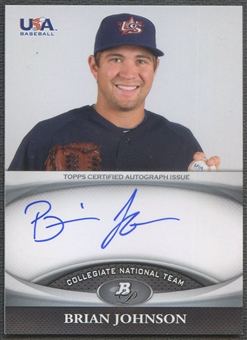 2011 Bowman Platinum #USABJ Brian Johnson USA Rookie Auto