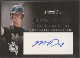 2007 TRISTAR Prospects Plus #MD Matt Dominguez Farm Hands Rookie Auto