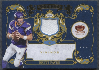 2010 Crown Royale #1 Brett Favre Royalty Materials Patch #02/15