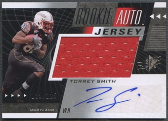 2011 SPx #58 Torrey Smith Rookie Jersey Auto #133/225