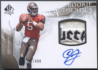 2009 SP Authentic #383 Josh Freeman Rookie Patch Auto #295/999