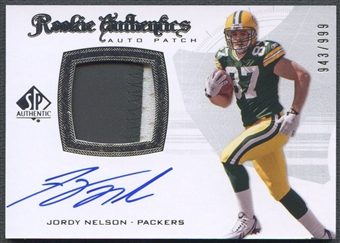 2008 SP Authentic #279 Jordy Nelson Rookie Patch Auto #943/999
