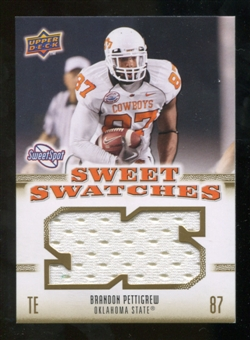 2010 Upper Deck Sweet Spot Sweet Swatches #SSW6 Brandon Pettigrew