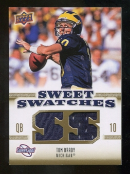 2010 Upper Deck Sweet Spot Sweet Swatches #SSW8 Tom Brady