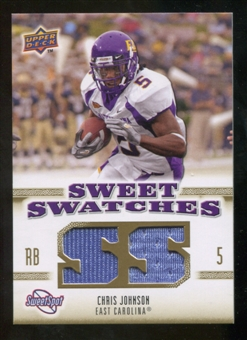 2010 Upper Deck Sweet Spot Sweet Swatches #SSW13 Chris Johnson