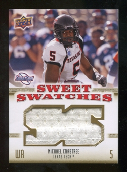 2010 Upper Deck Sweet Spot Sweet Swatches #SSW61 Michael Crabtree
